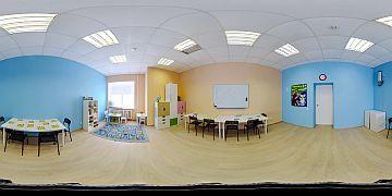 Панорама зала, в котором проходят развивающие занятия