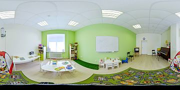 Панорама зала, где проходят занятия с малышами